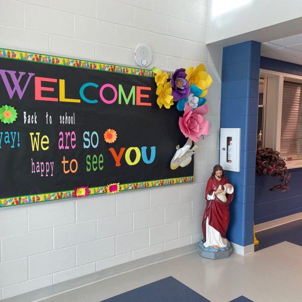 school foyer