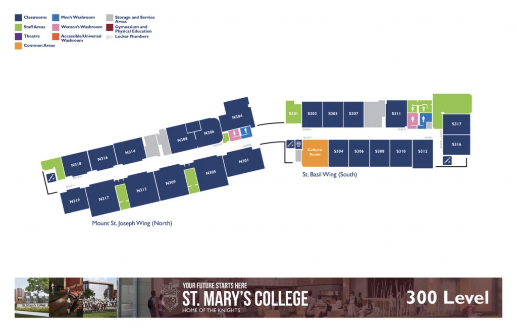St. Mary's College Map - Level 3