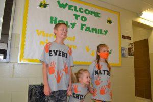 siblings in orange
